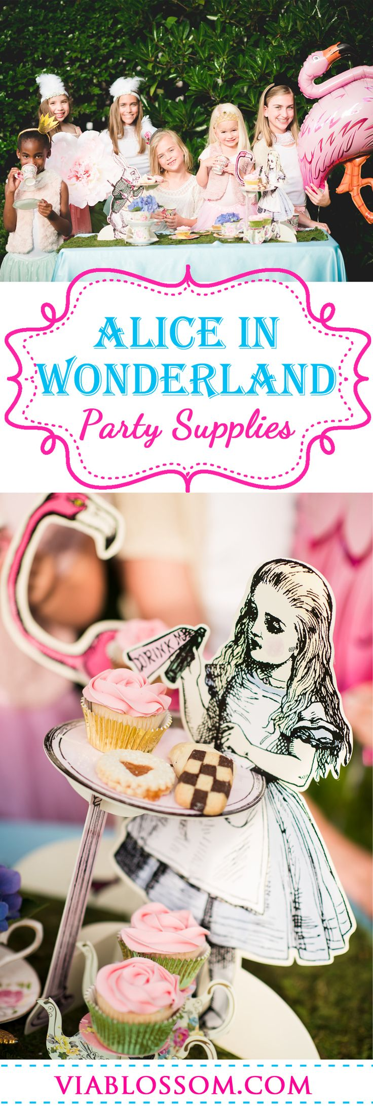 Must have Alice in Wonderland Party ideas for a magical Mad Hatter Tea Party Birthday! All the Mad Hatter Tea Party Supplies you will need for an Alice in Wonderland Party!