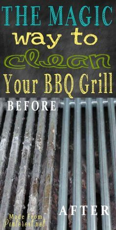 Every Summer I just hate cleaning the grill. Love this BBQ Grill cleaning Tutorial.