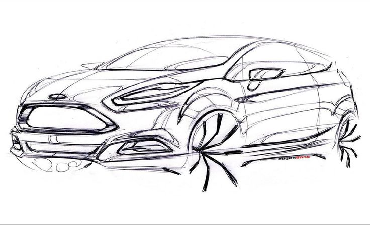 Ford Fiesta sketch by Eugen Enns