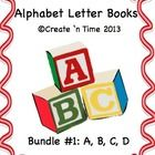 This packet is a 4-book BUNDLE that will save you money!  This Bundle includes COMPLETE Letter Books for Letters A, B, C, D.  Each book features words and colorful pictures of objects whose names begin with the featured letter.  Extension activities (including early learning books related to each letter) are included with the packet.  Perfect for the classroom or for preschoolers and parents to do together! Each of the ALPHABET LETTER BOOKS is also sold separately.  Pre-K, K