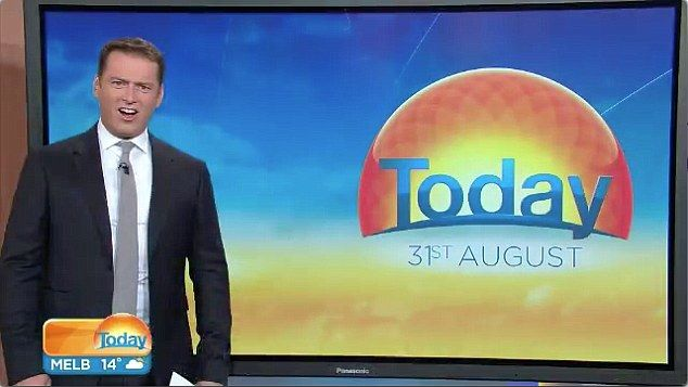 Karl Stefanovic had a hilarious reaction to footage of a monster shark shown on Monday morning