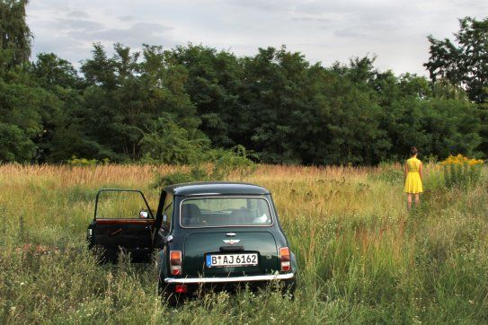 Classic Mini in Berlin: Art and Adventure with Amrei Andrasch. #photography #art #summer