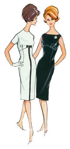 BD7043 Misses' Cocktail Dress | Vintage 1960's