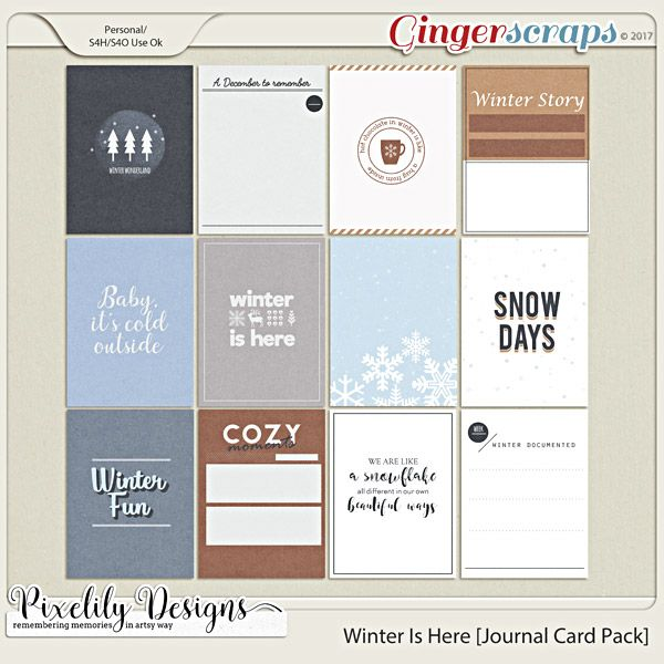 Winter Is Here [Journal Card Pack]