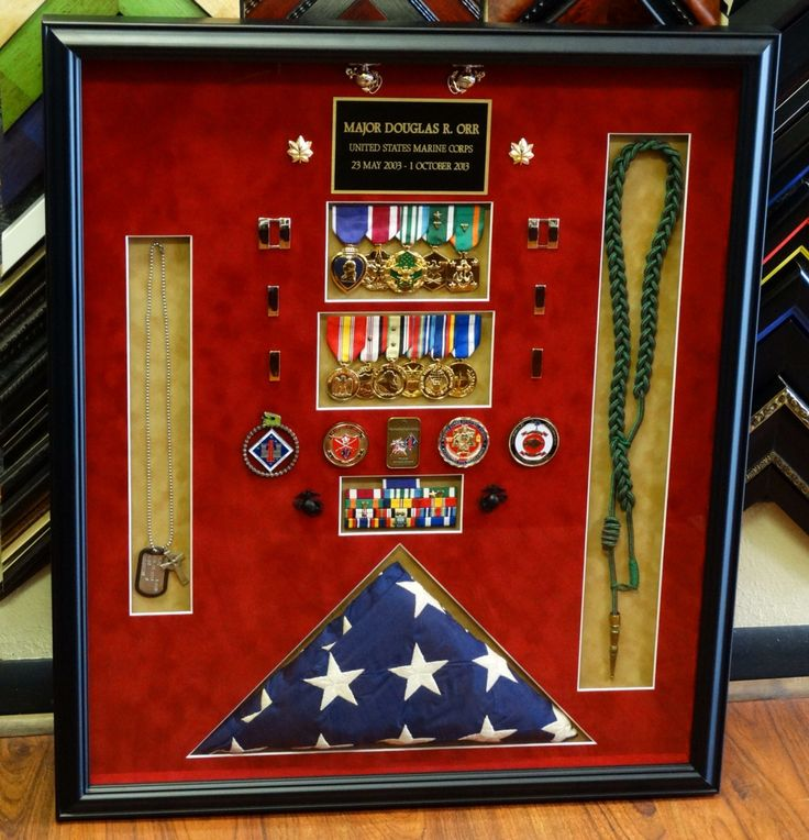Military Shadow box. Perfect for Dillon one day, especially for his 2/5 cord