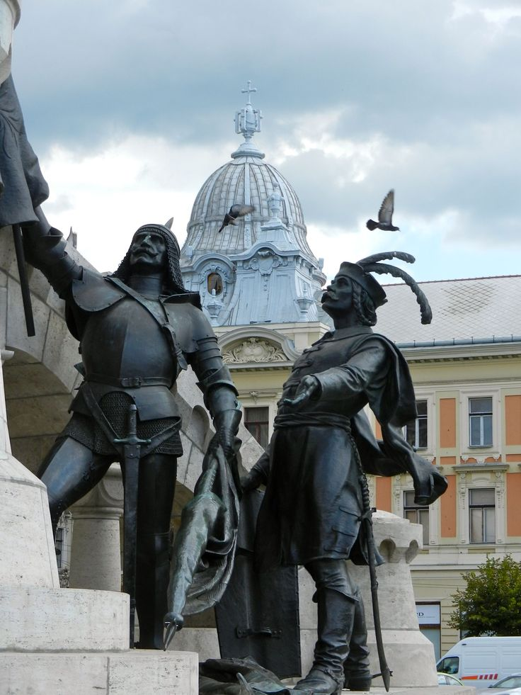 The statue of king Mathias