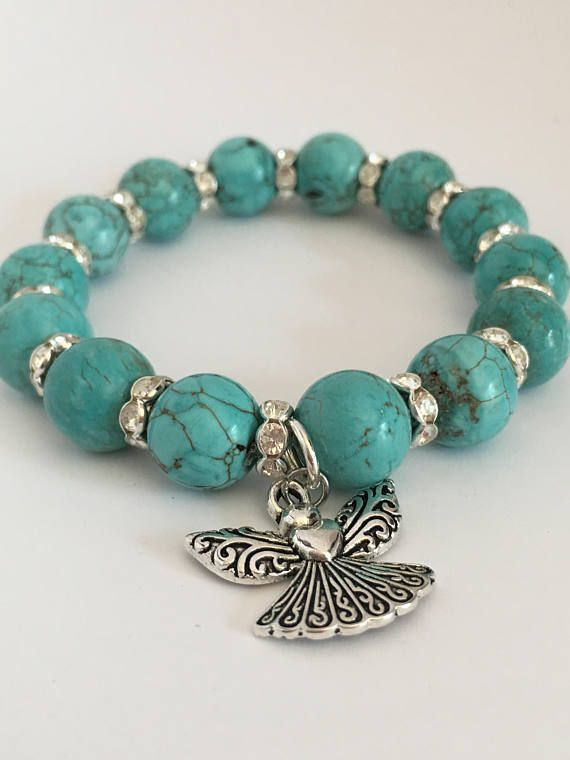 Turquoise stretch bracelet10mm beads turquoise bracelet12mm