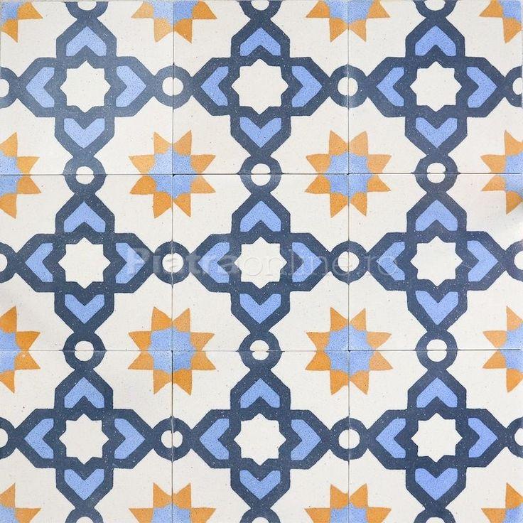 Terrazzo Orintal KR-09 Blue - Placi decorative realizate manual | Rock Star Construct