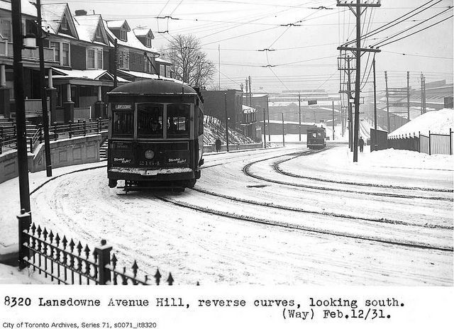 Lansdowne Avenue hill, looking south by Toronto History, via Flickr