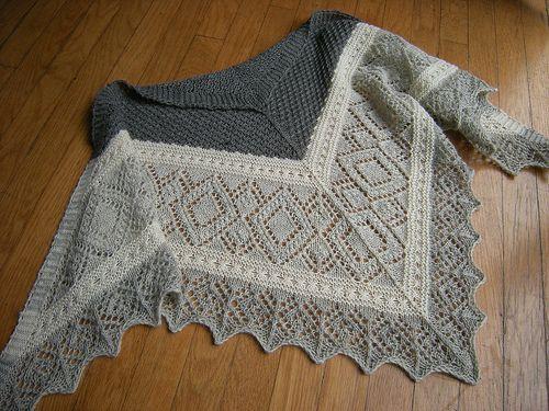 Miralda's Triangle Shawl designed by Nancy Bush. Pattern via Ravelry. This is a truly wonderful interpretation of this shawl.