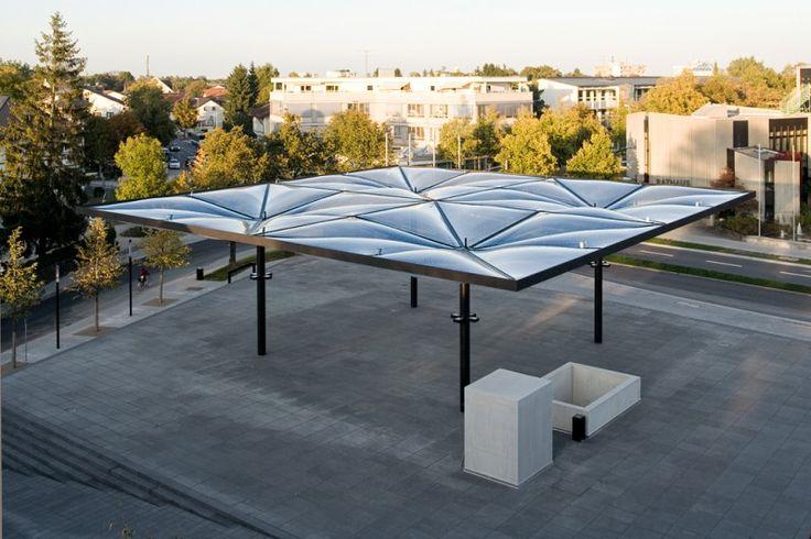 Community Center, Unterföhring - Pneumatic ETFE roof - Temme Obermeier   ETFE Membrane Architects