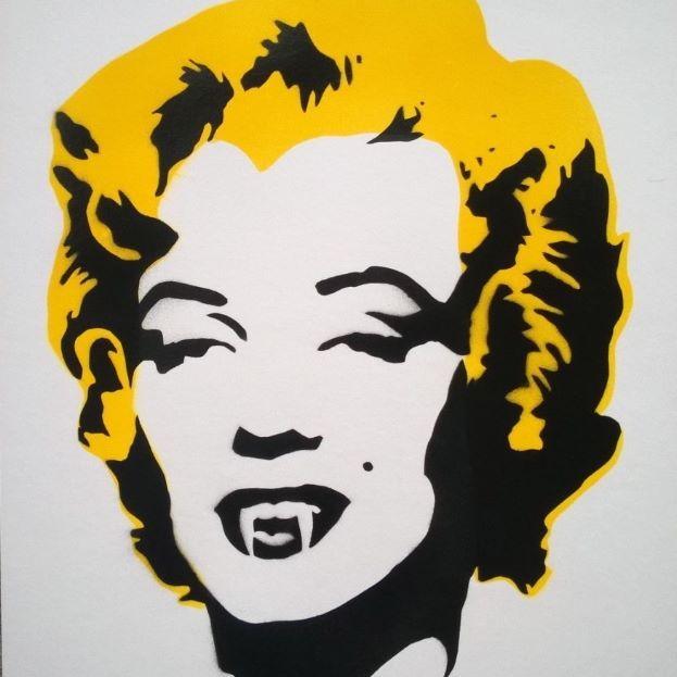 Vampire Marilyn #marilyn #horror #marilynmonroe #stencil #stencilart #streetart #mamhelsinki #urbanart #bloodsucker #katutaide #skipidipidii