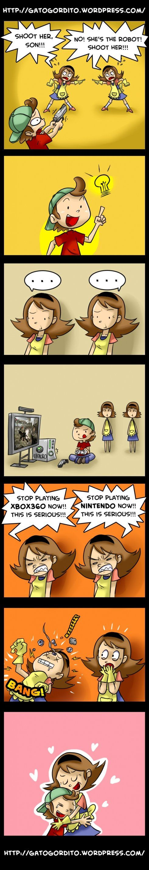 Moms always make video game mistakes.