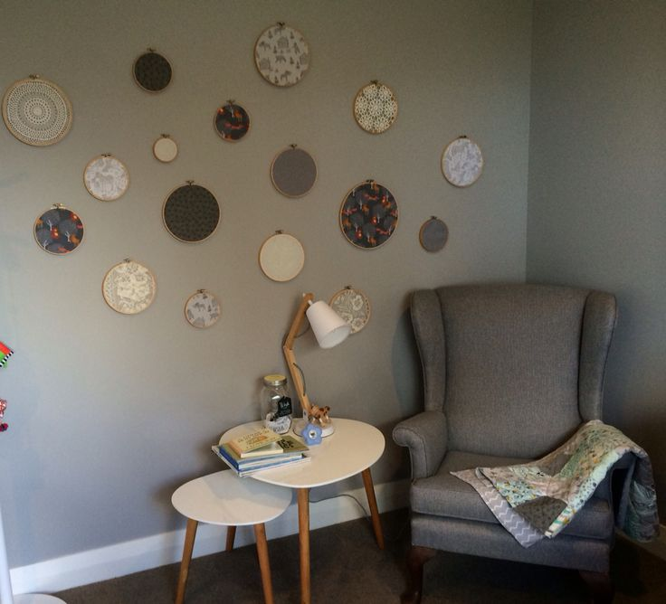 Quilting Room Wall Decor : Nursery baby room embroidery hoop wall art quilts