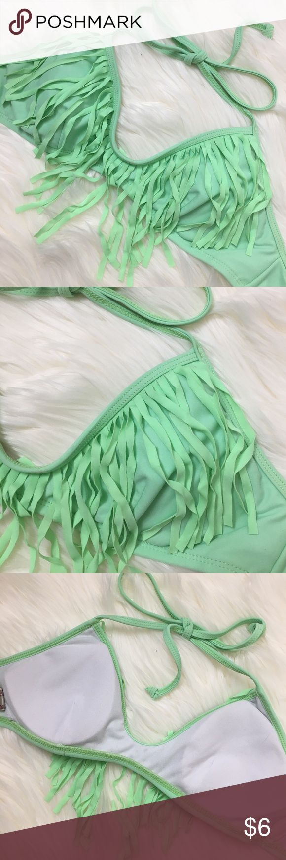 Mint green fringe bikini top Cute mint green fringe bikini top Swim Bikinis