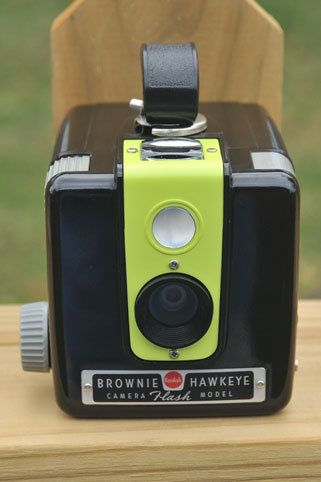 Working Kodak Brownie Hawkeye Flash Camera by highplacesphotos...wish I could find my parents' old one.
