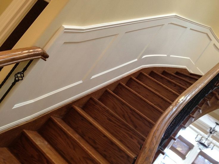 Best Recessed Panels On Straight Stairs I Elite Trimworks 640 x 480