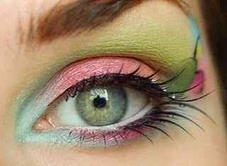 Fairy makeup. Beautiful!