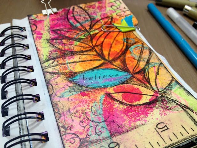 Diane's Mixed Media Art-loads of inspiration for mixed media art journaling