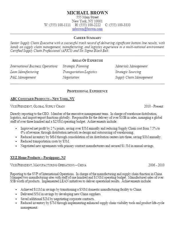 8 best Resume Writing Tips images on Pinterest Resume writing - logistics manager resume