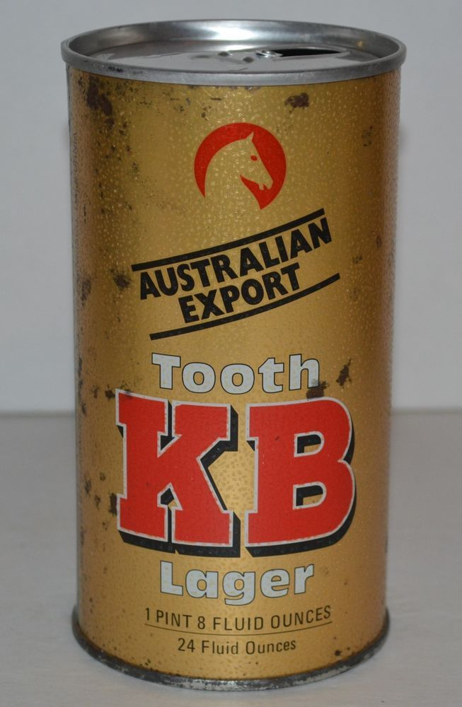 Details about Vintage KB Tooth Lager Steel Beer Can 1 Pint ...