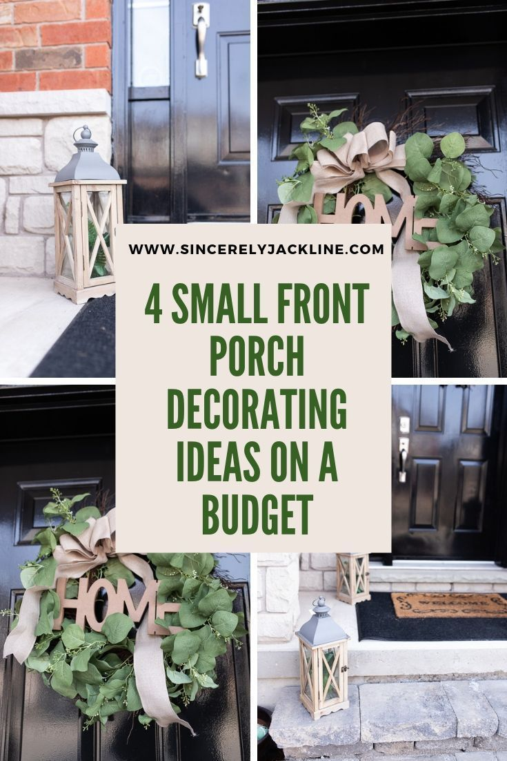 4 Small Front Porch Decorating Ideas On A Budget In 2020 Small Front Porches Decorating Ideas Small Front Porches Front Porch Decorating