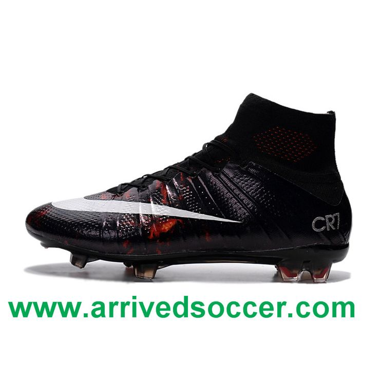 #CristianoRonaldo Nike Mercurial Superfly CR7 FG Top Football Shoes Black White  Red