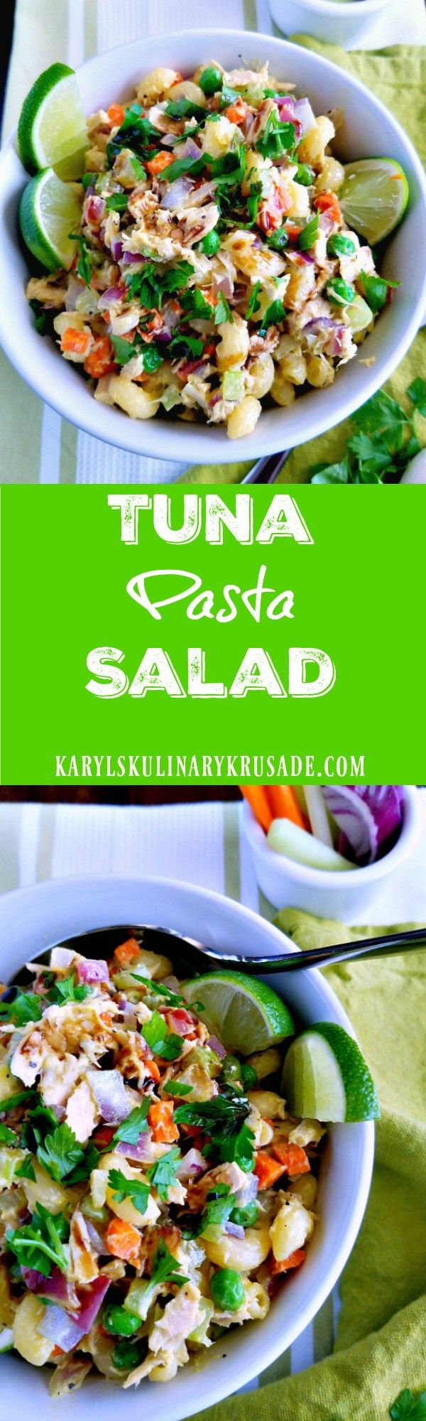 Tuna Pasta Salad is a light, delicious and filling dish that is perfect for lunch. Vegetables, pasta and Albacore tuna come together in perfect harmony. Top with a drizzle of high-quality balsamic vinegar for a luxurious finish