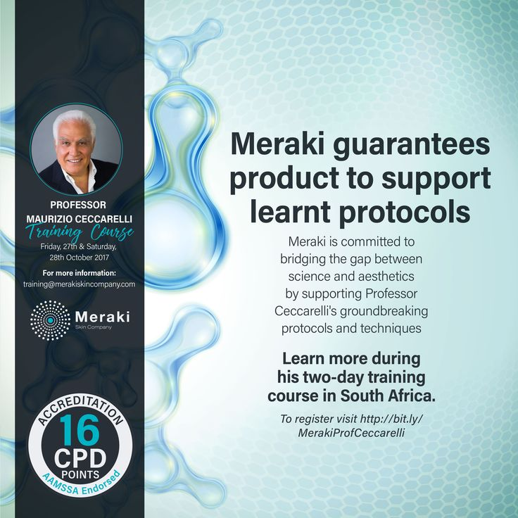 Meraki Skin Company aims to Bridge the gap between Medicine and Aesthetics in order to Revolutionize Treatment both in practice and at home. Visit http://us16.campaign-archive2.com?e=&u=4a15295b3d839d11868cb4f48&id=15cea035d0 for more information and to book. #ProfCeccarelli #MerakiSkinCompany