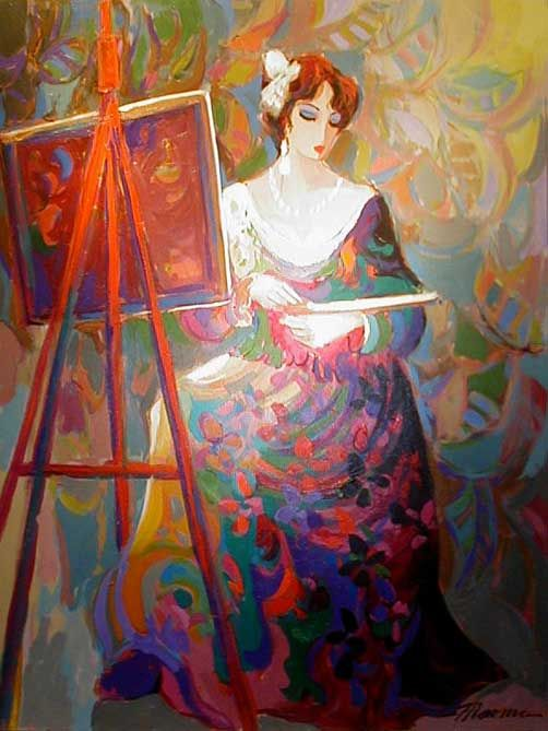 The Artist - Giclee on Canvas by Isaac Maimon.