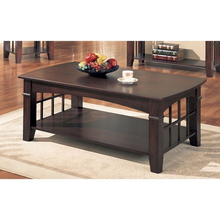 coaster company cherry coffee table cherry brown