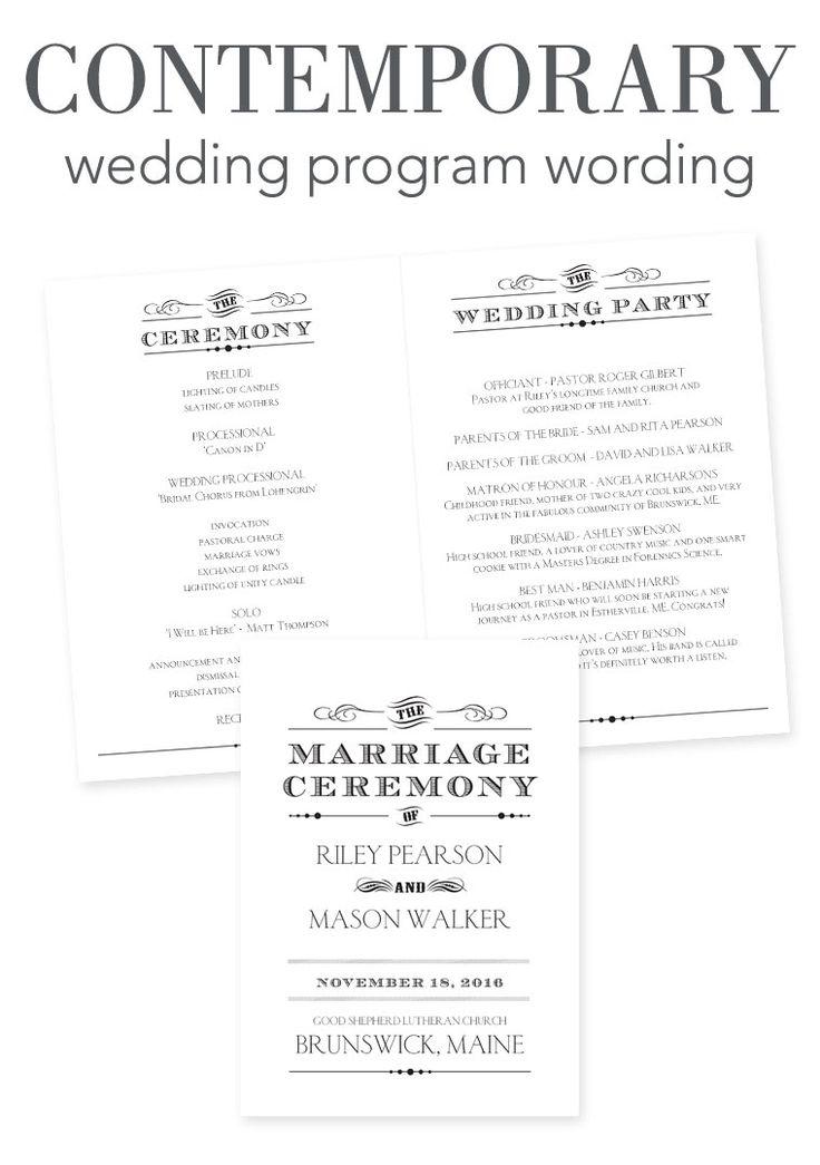 wedding ceremony format program wedding program example printable