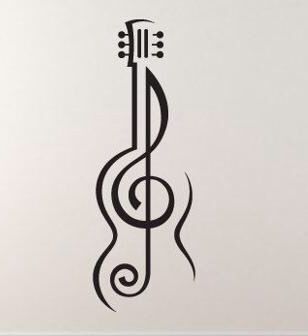 Music tattoo treble cleff