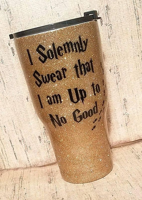 I Solemnly Swear I Am Up To No Good Glitter Tumbler  Harry