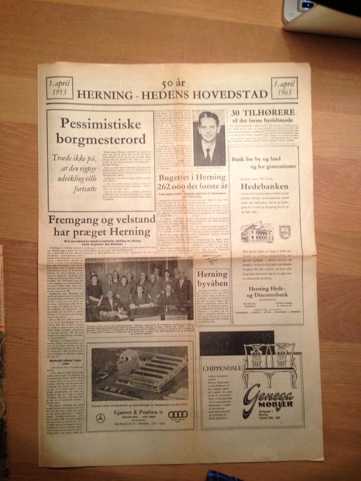 Tillæg til Herning Folkeblad i forbindelse med Hernings 50 års købstadsjubilæum 1963.