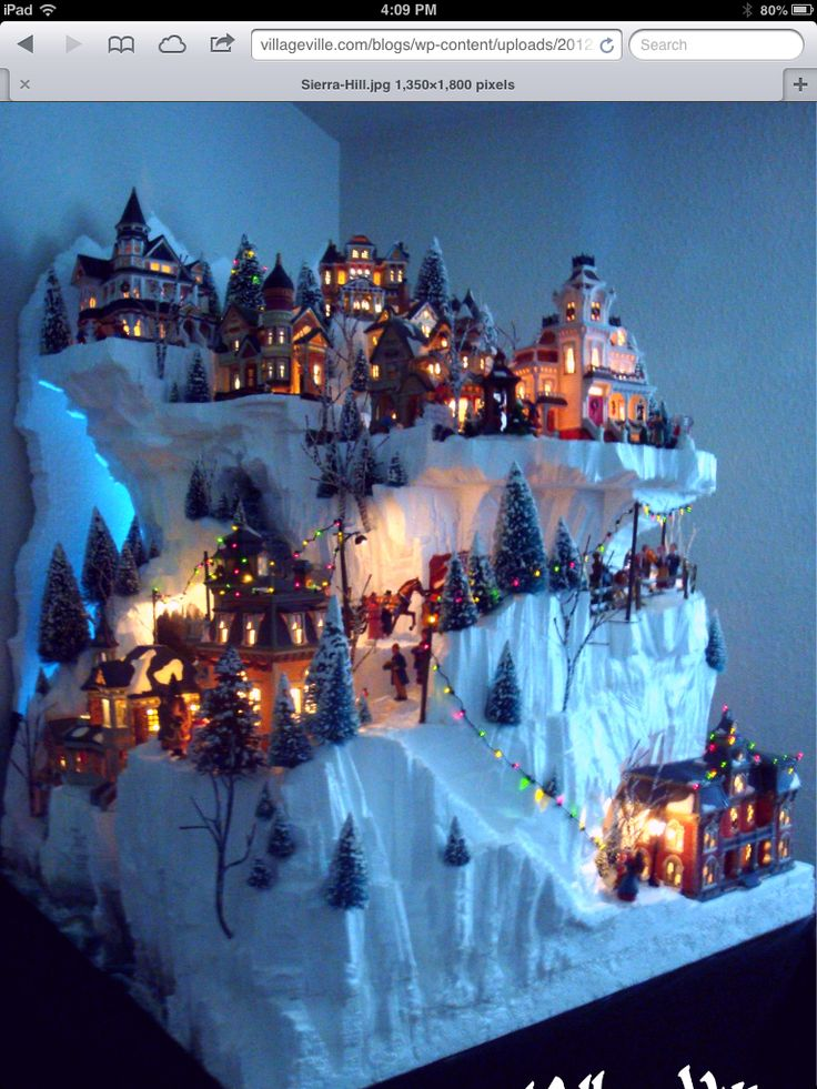 Love the cliffs and the height of this village display