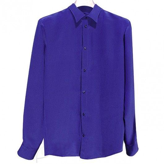 Chabrowa koszula jedwabna. Do zamówienia w dowolnym rozmiarze i kolorze w butiku latkafashion.com