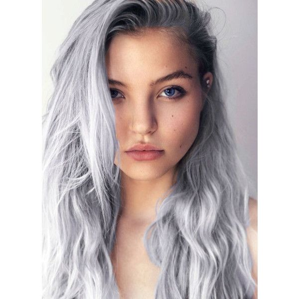 SILVER STARLIGHT | 6 Gray Silver Hair Dye - temporary light silver... (€8,71) ❤ liked on Polyvore featuring beauty products, haircare, hair color, hair, people, hairstyles, hair styles and beauty