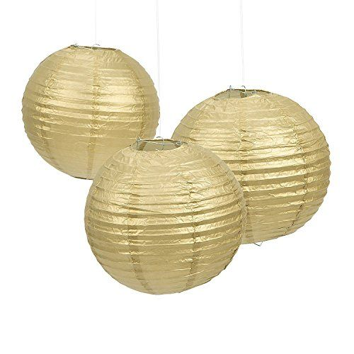 AllHeartDesires Gold Hanging Paper Lantern Lampshades Wedding Birthday Anniversary Party Decoration 6Count 8 >>> Click image to review more details.Note:It is affiliate link to Amazon.