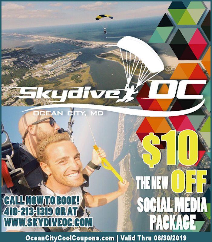 Skydive Oc Ocean City Md Skydiving Center Ocean City Cool Ocean City Md Ocean City Ocean