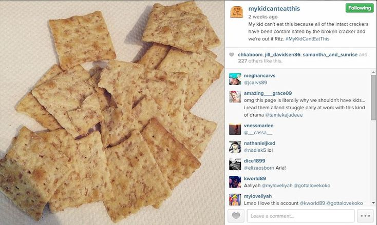 Because of one cracker, all was lost: The contaminated crackers due to one broken Ritz biscuit