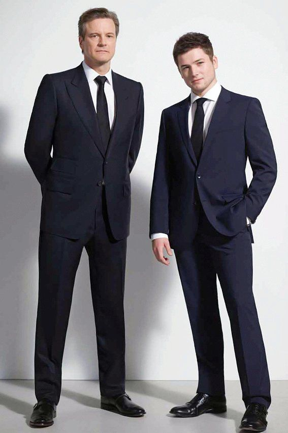 Colin Firth and Taron Egerton