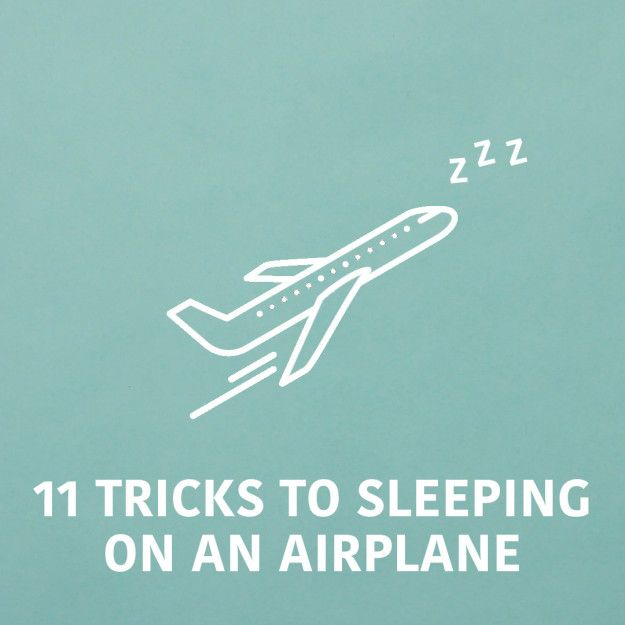 Pin it for your next flight! | Sleep Soundly On An Airplane With These Simple Tricks