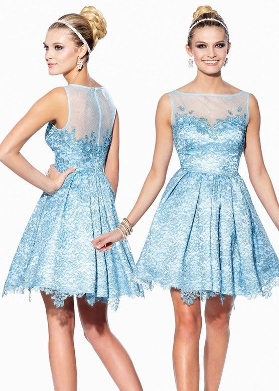 Shorts by Mon Cheri TS21575 Metallic Lace Homecoming Dress - Website Special!