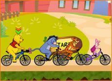 Juegos de Winnie.com - Juego: Carreras de Bicicleta - Minijuegos de Pooh, Tigger y Piglet Gratis Online