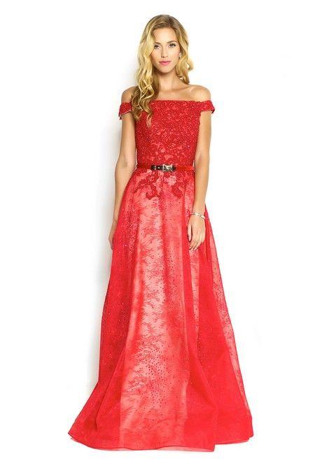 Spoločenské šaty Svadobný salón Valery, šaty na svadbu, šaty na ples, popolnočné šaty, červené šaty,luxusné šaty, šaty na stužkovú, požičovňa šiat