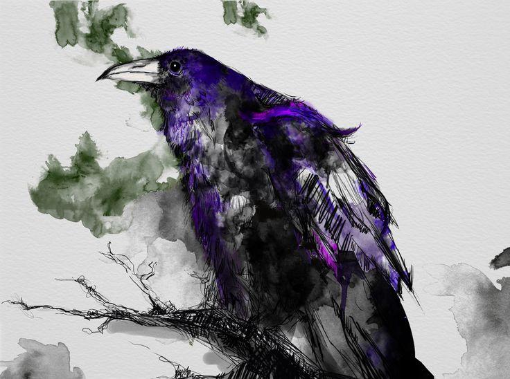 #raven #waterdigital #maleficient #inspiration