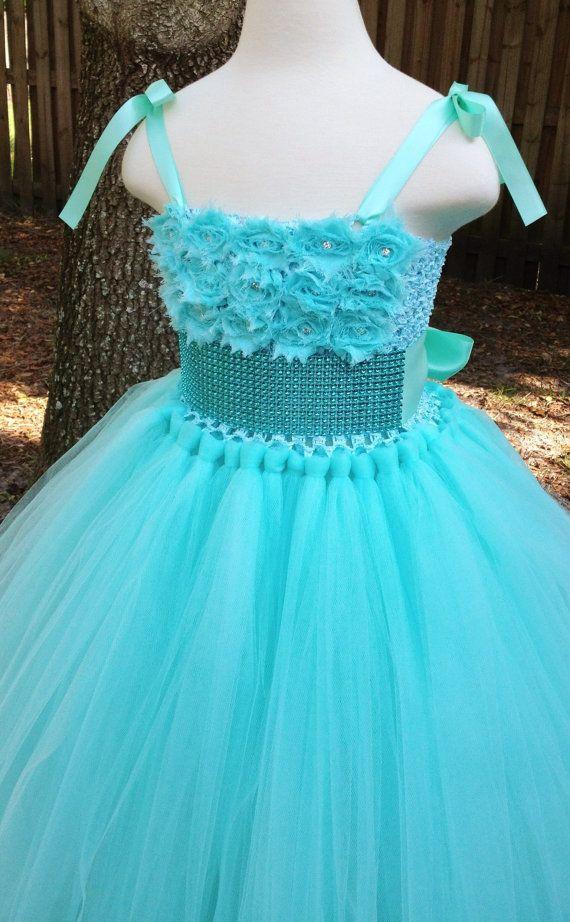 Tiffany blue wedding flower girl dress assured, that