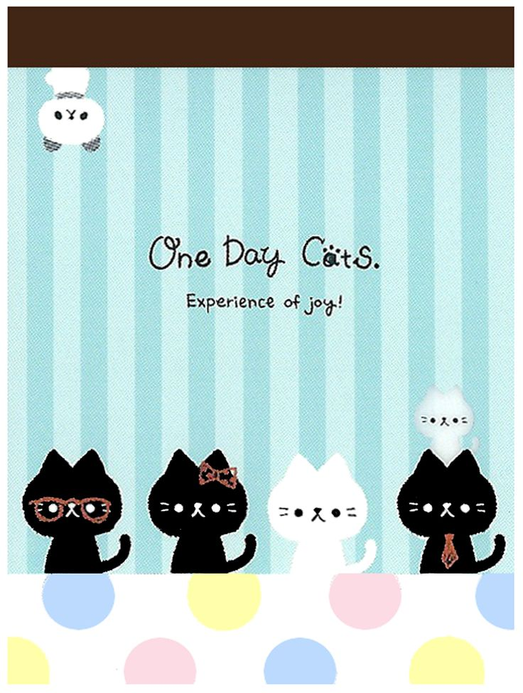 Kamio One Day Cats Mini Memo Pad