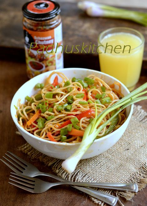 Easy Schezwan Noodles -Indo Chinese recipe